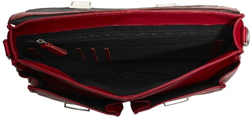 Bugatti Bags  George Aktentasche, klein, 39 x 28 x 8, sacs à main adulte mixte - Rouge - Rot (Rot 16), 39x28x8 cm (B x H x T) EU Rouge - Rot (Rot 16)
