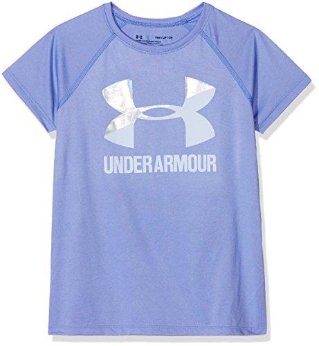 Under Armour Mädchen UA Solid Big Logo SS T Kurzarmshirt, Talc Blue, YXS