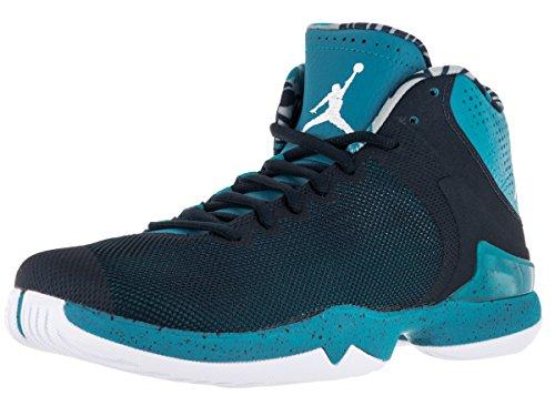 Jordan Super Fly 4.0 PO Hommes Synthétique Baskets Tdl-White-Cllg Navy-Infrrd 2