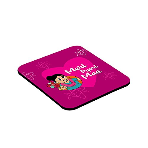 LOF Gifts For Meri Pyari Maa Gifts For Mother's Day Graphics Printed Square Coaster  available at amazon for Rs.199