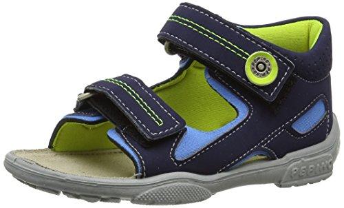 Ricosta Manti, Jungen Sandalen, Blau (Nautic/Sky 125), 22 EU Velcro-strap Sandalen