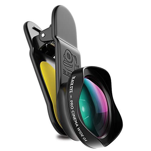 Black Eye Pro Cinema Wide G4 120° Weitwinkelobjektiv, optimiert für neuere Smartphones (Universelle Clip-Befestigung, Doppelseitige Antireflex-Beschichtung, Funktioniert auch mit DualCams) - G4CW001 Wide Cinema