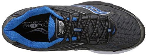 Saucony Ride 8, Scarpe sportive, Uomo Grey/Black/Blue
