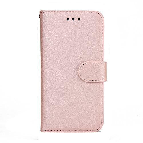 iPhone 5S/5/SE Wallet Case, SOUNDMAE Magnetic Detachable Premium PU Leather Wallet Case 2in1 Removable Protective Flip Cover With Card Slot Cash Pocket for iPhone 5S/5/SE [Blue] Z-Pink