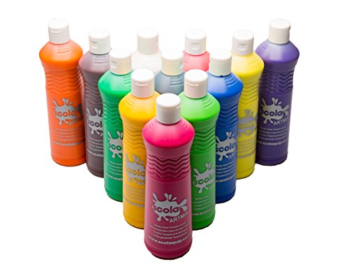 Scola artmix ready mix - set di tempere colorate, 12 x 600 ml