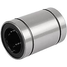 sourcingmap® LM30UU 30mmx45mmx64mm buje Bola de movimiento lineal a bolas tono de plata