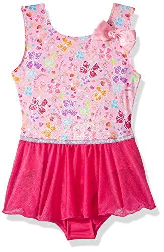Jojo Siwa By Danskin Mädchen Rainbow Tank Dance Dress Funktionsunterwäsche, Pretty Bows Sugar Pink, XS -
