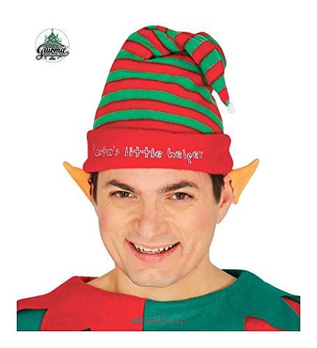 (Gestreifte Elf Hat Santa Claus-Helfer)