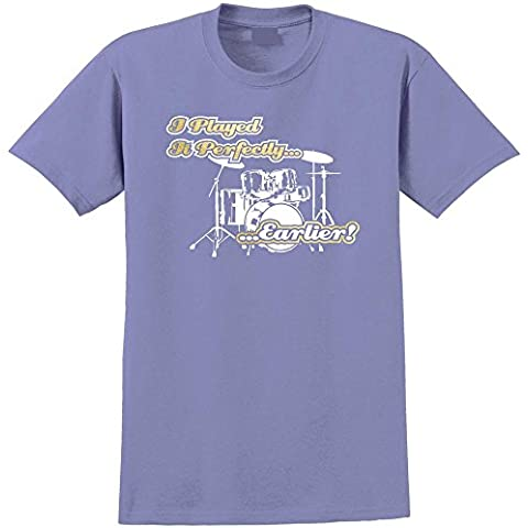 Drum Kit Perfectly Earlier - Musica T Shirt 13 Taglia 5 Anni - 6XL 9 Colori MusicaliTee