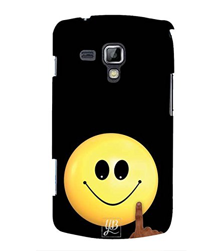 YuBingo Designer Printed Plastic Mobile Back Case Cover Panel for Samsung Galaxy S Duos : S Duos 2 ( Cute Smiley )  available at amazon for Rs.449