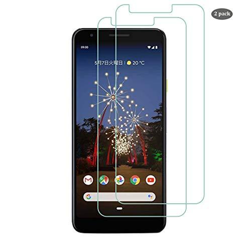 QULLOO für Google Pixel 3a XL Panzerglas Schutzfolie, [2 Stück] Google Pixel 3a XL Panzerglasfolie 9H Härte Folie Glas Anti-Kratzer Schutzglas Ganzkörper Displayschutzfolie für Pixel 3a XL