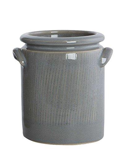 House Doctors Planter, Pottery, S, cool grey, dia.: 12/14 cm, h.: 15 cm (Dia-aufbewahrungsbox)
