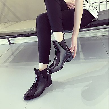 GLL&xuezi Da donna Stivaletti Anfibi Autunno PU (Poliuretano) Casual Elastico Quadrato Nero 5 - 7 cm black