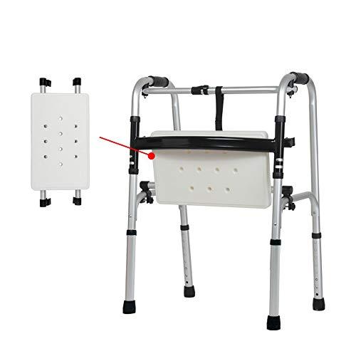 Easty Compact Folding Walker Aluminiumlegierung Walker Behinderte Krücke Ältere Medizinische Instrumente Riemenscheibe Mit Kissen Massage Für Senioren, Erwachsene Adipositas Extra Breite Vorderrad Wal (Breit Extra Walker)