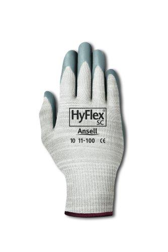 Ansell HyFlex 11-100 Gants pour usage spécifique, protection mécanique, Gris, Taille 10 (Sachet de 12 paires)
