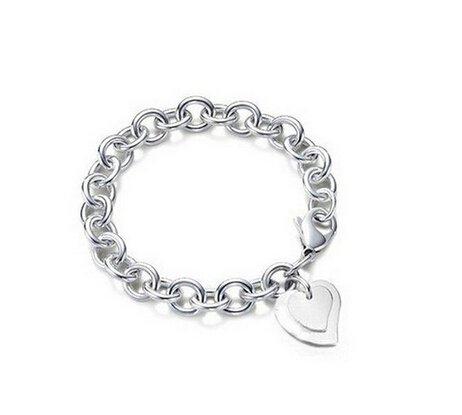 KOLA-Braccialetto-con-pendente-charm-a-cuore-doppio-placcato-in-argento-Sterling-925-chiusura-a-moschettone