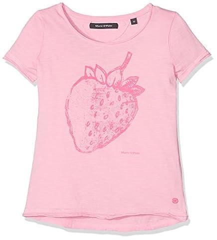 Marc O' Polo Kids Mädchen T-Shirt 1/4 Arm, Rosa (Peony 2105), 110