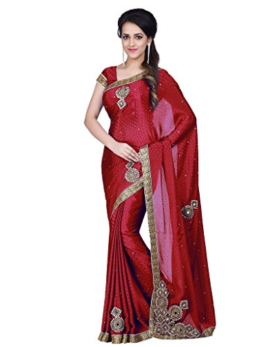 Sasimo Women's Clothing Embroidered Saree With Blouse Piece Fancy Look Saree For...