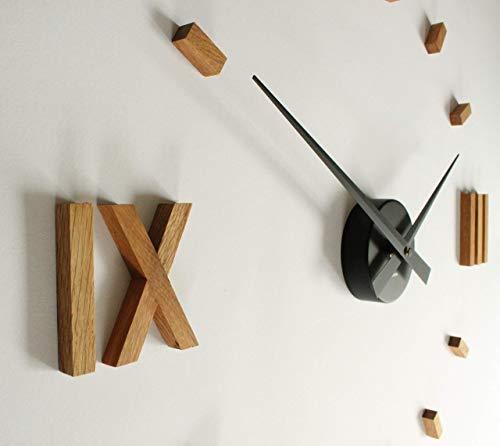 Kasper\'o\'clock - große Wanduhr aus Eichenholz