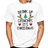 serliyKapuzenpullover Herren Kurzarm T Shirt Weihnachtsmann Weihnachten Weihnachtsmotiv T-Shirt Männer Geschenke Tee-Shirt Bluse Top