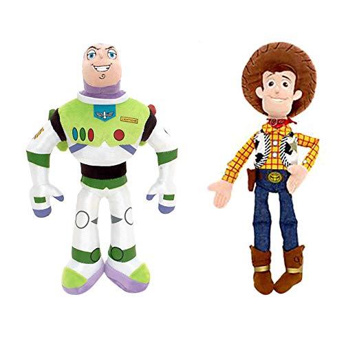 Preis Spielzeug Buzz Lightyear und Woody Soft-Spielzeug-Puppe Set-Disney Toy Story Mini Bohne Sammlung (Buzz/Woody) (Puppe Jessie)
