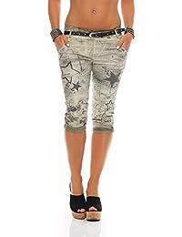 Pantalones Capri para mujer ZARMEXX Pantalones baggy para novio Pantalones vaqueros Pantalones capri estampados con estampado de estrellas Jegging's Capri
