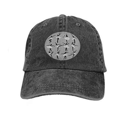 Cowboy Hat Fashion Baseball Cap for Men and Women Silhouettes Ballerinas Dancing swan Lake Black (Black Womens Cowboy-hut)