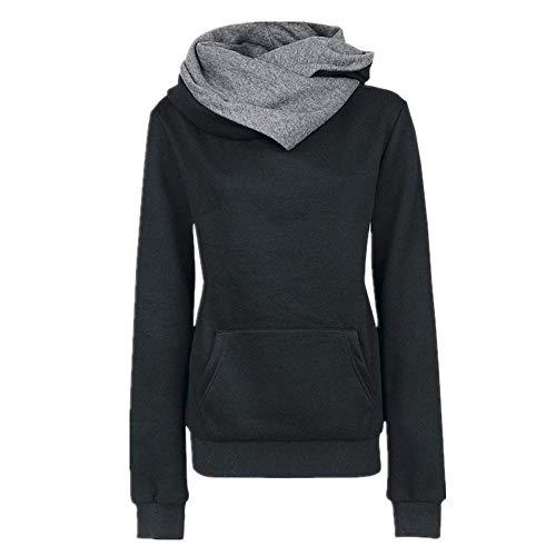 Juxian Revers Kapuze Langarm-Pullover Frauen Vier-Knopf-Mantel Jacke Frauen-Pullover