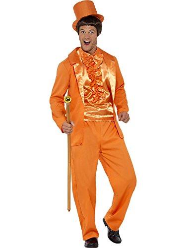 Smiffys, Herren 90er Jahre Alberner Smoking Kostüm, Jacke, Hose, Hemd und Hut, Größe: M, 43204 (Smoking Adult Kostüme)