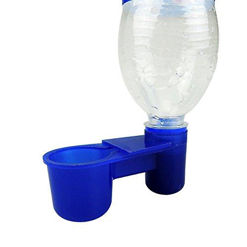 10Stück Kunststoff Cola Flasche Stil Vogel Wasser Feeder Trinkbecher Futtertrog Vogelkäfig Zubehör Taube Parrot livestocktool -