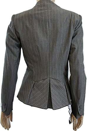 Next - Veste de tailleur -  - À rayures Femme Gris Grey Pin Stripe