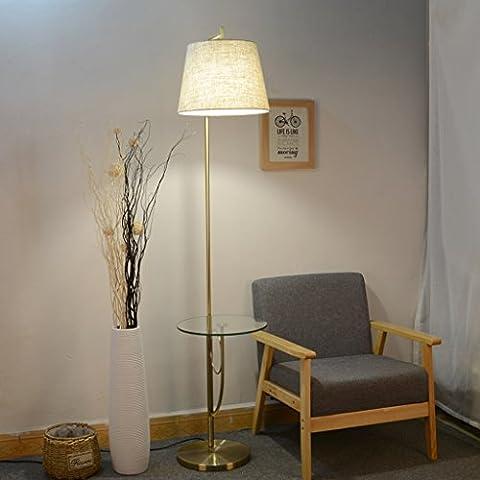 NAUY- Style américain avec table basse en verre lampadaires salon divan canapé convertible lampe de lecture verticale Peut placer des objets