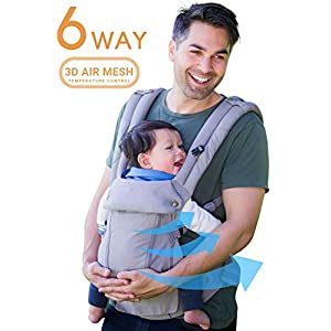 All Seasons 360 Ergonomic Baby Carrier - 6 Position, Easy Breastfeeding, No Infant Insert Needed, Adapt to Growing Baby (Newborn, Infant & Toddler), Great Hiking Backpack carrier - PATENT PENDING YYY ✅ 4-in-1 multi-function: for steering three-wheeled baby bicycle, thicker push rod PLUS steering system, more flexible seat, 360-degree swivel chair, wide body and awning can be adjusted to the third gear. As the child grows, the tricycle can Adjust to the fourth level. ✅ Durable material: This thrust tricycle is made of high-quality carbon steel, with excellent strength, light resistance and anti-flaking adjustable awning. Encrypted Oxford cloth can block harmful UV. Mesh ventilation SUV is as comfortable as driver's seat. ✅Safe design: high back support stable three-way frame three-point seat belt and foam covered guardrail to prevent the hollow wheel from sliding or excessive tilting to prevent clamping feet. The rear wheel adopts double brake system and is equipped with high-density titanium empty wheel explosion-proof 12