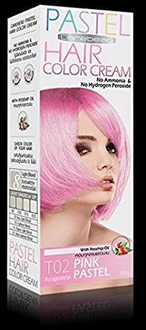 Teinture Coloration Cheveux Permanente PASTEL Goth Emo Elfe Pink Rose