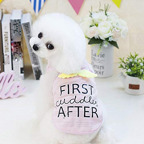 3d1b6b64ac7d Pet Dog Clothes Cotton Angel Wings Puppy T-shirt Puppy Vest Small Dogs S-