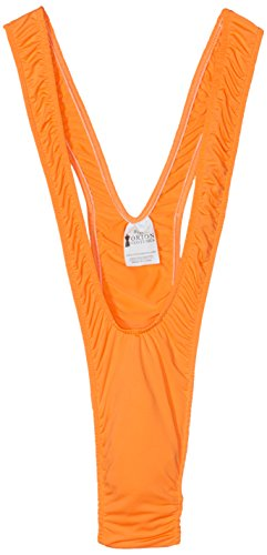 Borat Mankini Thong Swimsuit (Luminous Orange)