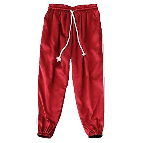 Pantaloni da donna Elastici Pantaloni da donna Elastici Pantaloni da ginnastica Casual Pantaloni sportivi da donna con cravatta Juleya Rosso