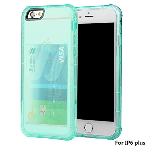 xhorizon [Ultra Hybrid] [Coussin d'air] Pare-chocs d'absorption des chocs et anti-rayures Clear Back ultra mince couverture protectrice transparente avec Slot de carte cachée pour iPhone 6 Plus/6S Plu #4