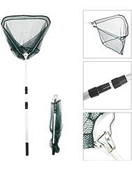MultiWare Épuisette De Pêche Triangulaire Télescopique Poignée En Aluminium