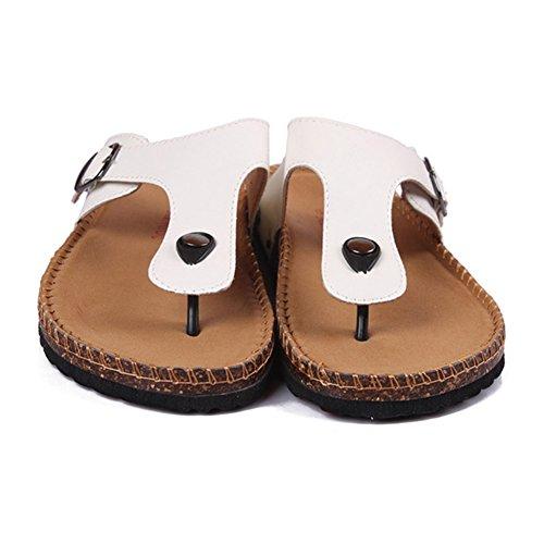 Zoccoli da Unisex Adulto Sandali - Infradito Uomo - Pantofole a Casa da Donna Bianco