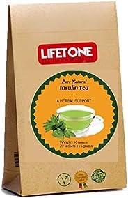 Costus igneus / Té de hojas de plantas de insulina | Té para diabéticos, 20 bolsitas de té