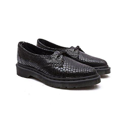 Dr. Martens Femmes Noir Saino Hi Shine Snake Chaussures Noir