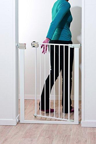 Safety 1st Easy Close Extra Tall Treppenschutzgitter, extra hohes Tütschutzgitter aus Metall zum Klemmen, weiß, bis 94 cm verlängerbar - 4