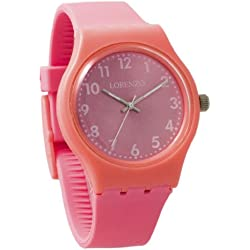 Lorenzo Women's | Bubblegum Pink Silicone Band Watch | LZ06