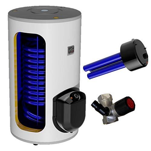 250 L Liter Warmwasserspeicher Standspeicher Elektrospeicher Keramikheizstab mit Trockenheizpatrone incl. Sicherheitsventil