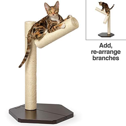 PetFusion Ultimate Katzenkletter- und Aktivitätsbaum-Tower. Kratzstämme und Moderne gebeizte Plattformen, Espresso-Finish -