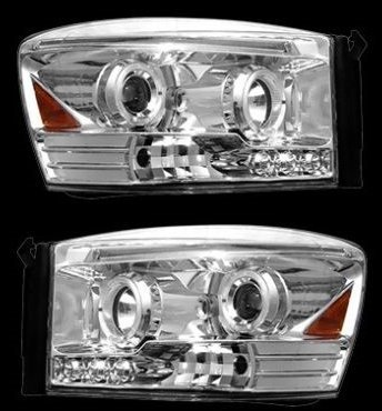 Projecteur Phare Dodge Ram LED Chromé Aspect 06–08 2006 2007 2008 Super