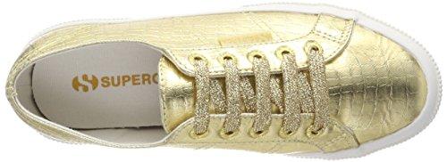 Superga 2750 Cotmetembossedcoccow, Sneaker Donna Gold (Orange Gold)
