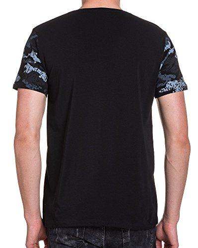 BLZ jeans - Schwarzes T-Shirt grau camo Trend Schwarz