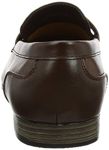 New Look Herren Smart Formal Loafer Slipper Braun (Dunkelbraun)